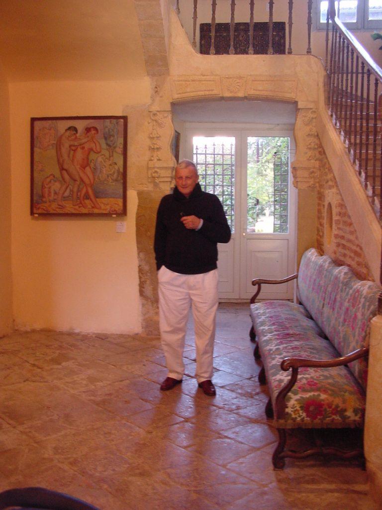 Photographie de Claude Namy président fondateur du Musée Marcel-Lenoir