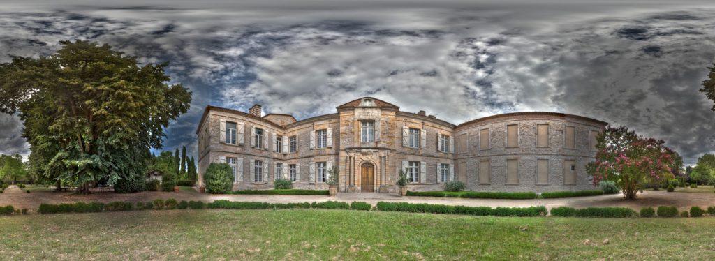 Panoramique Château de Montricoux de jour