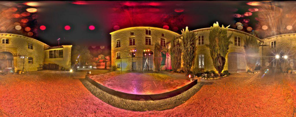 Panoramique Château de Montricoux Festival de nuit